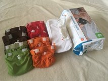 Small gDiapers Starter Lot - 8 covers, 10 cloth liners + disposables in Stuttgart, GE
