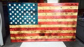 Wooden handmade American Flag in Fort Leonard Wood, Missouri