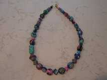 Colorful Chunky Wood Bead Necklace in Chicago, Illinois