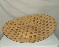 Large Marquetry Bowl / Dazzling Art Design Geometric Patterns in St. Charles, Illinois