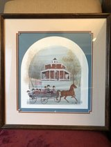 Pat Buckley Moss Framed Print Octagon Ride in Chicago, Illinois