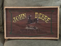 Framed John Deere Wooden Barnwood Sign in Westmont, Illinois