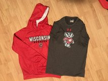 Wisconsin Badgers Youth XL Hoodie & Small shirt in Chicago, Illinois