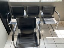 7 leather reception chairs in Joliet, Illinois