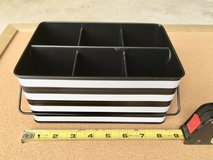 Black & White Office Supply Organizer Tin for Pens, Pencils, Scissors in Bolingbrook, Illinois