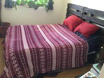 Queen sized bed with split box spring in Okinawa, Japan