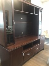 Entertainment Center TV Stand-Cappuccino finish in Okinawa, Japan