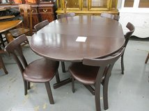 Dark Wood Table with 6 Chairs in Bartlett, Illinois