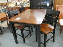 Two-Tone High Top Table and 4 Chairs in Bartlett, Illinois