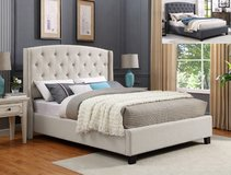 """Eva"" Bed, Grey or Ivory in Kingwood, Texas"