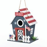 Americana Birdhouse (Sign: God Bless America / USA flag) in Fort Lewis, Washington