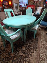 Table & 4 chairs. refurbished shabby chic in Conroe, Texas