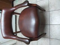 Wooden / Leather Office Chair in Conroe, Texas