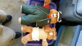 Teddy Ruxpin regular baby worm clothes books and tapes in Travis AFB, California