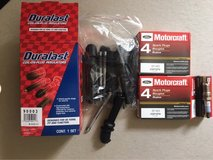 Brand new Motorcraft spark plugs and duralast Wire Kit for a Ford V8 in Fort Leonard Wood, Missouri