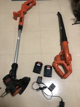 Black and Decker Weed Wacker + Leaf Blower (Battery Powered) in Okinawa, Japan