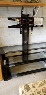 Entertainment Stand in Black Metal and Glass #342-549 in Camp Lejeune, North Carolina