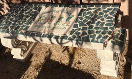 Cement Bench in Yucca Valley, California