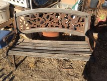 Wood & Metal Bench in Yucca Valley, California