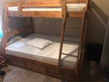 solid wood bunk bed in Fort Campbell, Kentucky