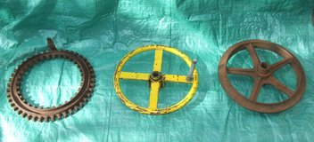 Vintage Industrial Iron Gear ~ Steering Wheel ~ Mining Ore Cart Wheel in Westmont, Illinois