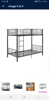 BRAND NEW!!Black metal bunk bed twin/twin in Fort Campbell, Kentucky