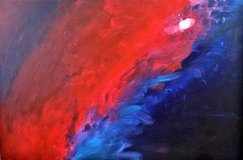 Contemporary art, large canvas  36 x 24 in in Chicago, Illinois