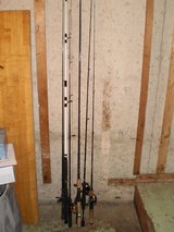 Fishing rods and Combos- various mfg. in Chicago, Illinois