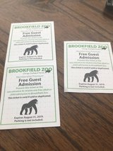 3 Brookfield Zoo Tickets. in Chicago, Illinois