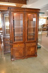 Double Lighted Curio Cabinet in Fort Lewis, Washington