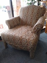 Tan Brown Geometric Upholstered Chair in Chicago, Illinois