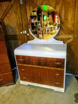 Antique chalk painted signed dresser with mirror in Camp Lejeune, North Carolina