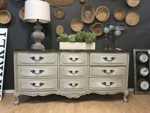 French Provincial Dresser buffet entertainment center Farmhouse French linen in Fort Leonard Wood, Missouri