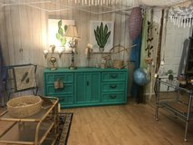 Boho Farmhouse Dresser buffet entertainment center bamboo emerald in Fort Leonard Wood, Missouri