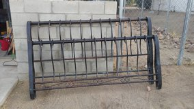 King metal sleigh style bed frame. in Yucca Valley, California