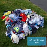 REDUCED: 6-9 month baby boy clothes- HUGE lot in Naperville, Illinois