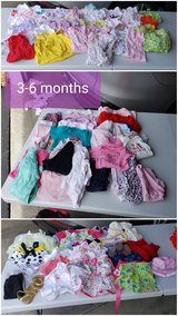 REDUCED: 3-6 months baby girl clothes- HUGE lot in Naperville, Illinois