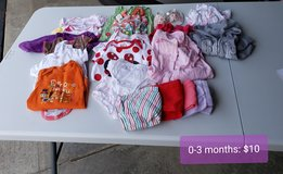 0-3 month baby girl clothes lot in Chicago, Illinois