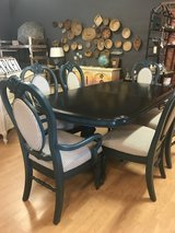 Dining Table & Chairs Newly refinished dark blue modern farmhouse traditional in Fort Leonard Wood, Missouri