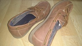 """Boys casual """"deck"""" shoes, size 3, Tommy Hilfiger in Westmont, Illinois"""