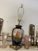Antiquish, blue, boat lamp in Elizabethtown, Kentucky