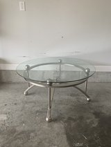 Used silver with ball feet, round glass top in Fort Knox, Kentucky