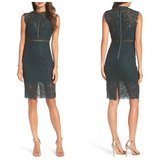 Nordstrom Bardot Lace Sheath Dress Green XS in Naperville, Illinois