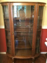 Antique LARKIN solid oak china curio cabinet in Conroe, Texas