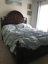 Wood Queen size bed in Kingwood, Texas