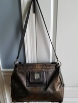 Large Miche Brown Snakeskin pattern and texture with liner and shoulder straps in Bolingbrook, Illinois