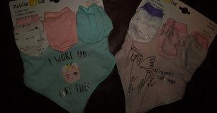 Girl's bib and mitten set in The Woodlands, Texas