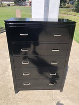 Black 5 Drawer Chest of Drawer in Fort Knox, Kentucky
