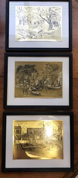 Gold Foil Etch Print by Lionel Barrymore in Kingwood, Texas