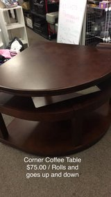 Corner Coffee Table / On Wheels in Fort Leonard Wood, Missouri